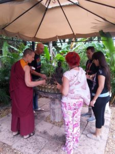 Butterlamps Prayers at Open Awareness Buddhsit Center - MiamiBuddhism.com